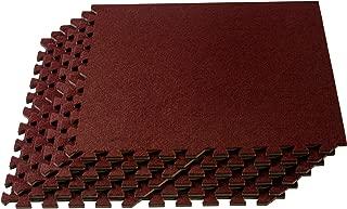 We Sell Mats Premium Interlocking Foam Carpet Tiles, Extra Durable Carpet Squares, Anti-Fatigue for Home, Office, or Classroom Use, Vacuum Safe Carpet Tiles, 24