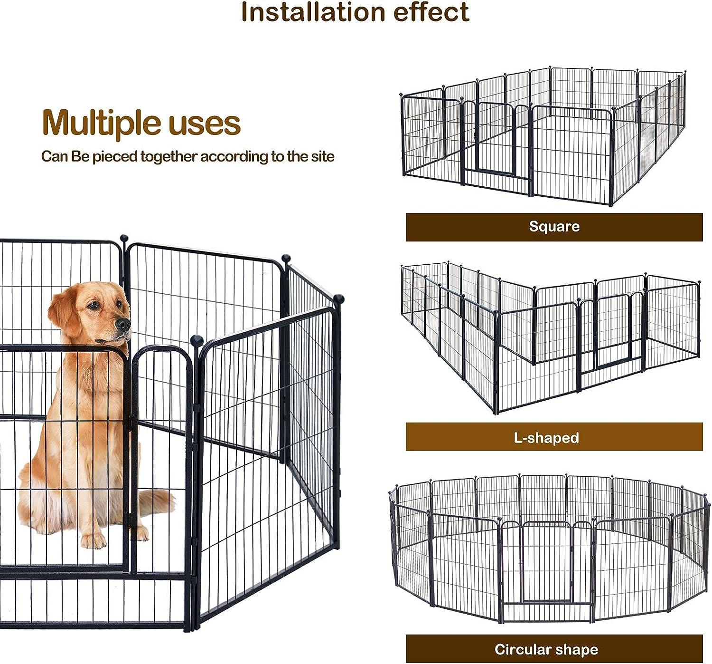 Buy GDKASRNY Dog Playpen, 20 Panels 20 Inch Height in Heavy Duty ...