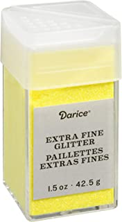 Neon Yellow Extra Fine Glitter 1.5 Ounces Canister w/Pour or Shake Lid