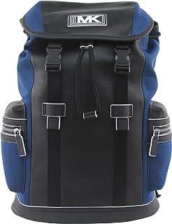 حقيبة ظهر مايكل كورس للرجال من جلد كوبر وجيب شبكي باللون الأزرق الياقوتي، طراز 37U0MCOB6L.
