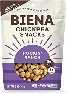 BIENA Chickpea Snacks, Rockin' Ranch, 5 Ounce, 4 Count