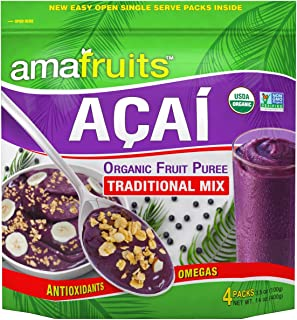 Amafruits Acai Traditional Mix with Guarana Smoothie Packs