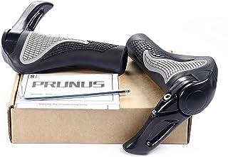 自転車 ハンドル グリップ MTB グリップ バーエンド 人間工学に基づくデザイン バーエンド付き ハンドル径22.2mmに適合 BY PRUNUS