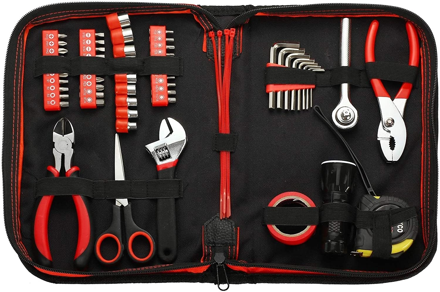 62 Pc Household Tool Kit Cheap mail order specialty store Red Cheap SALE Start Set Metal