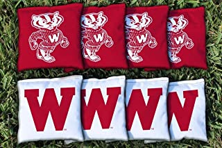 Victory Tailgate NCAA College Vault Regulation Corn Filled Cornhole Game Bag Set - 8 Bags Included - 600+ Schools Available