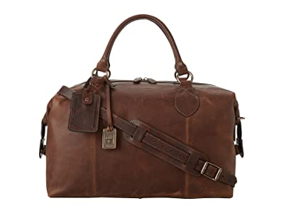 Frye Logan Overnight (Dark Brown Antique Pull Up) Satchel Handbags