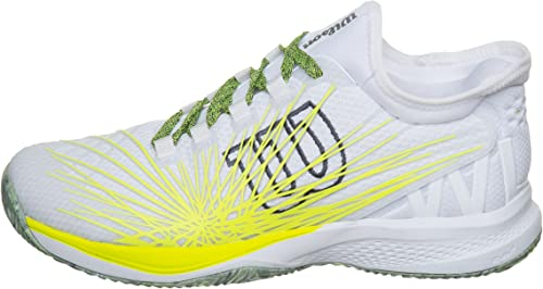 WILSON Chaussures Homme KAOS 2.0 SFT SFT Clay Court Blanc Jaune PE 2018  magasin d'usine