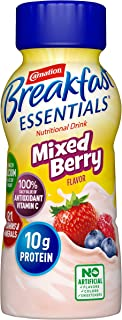 Carnation Breakfast Essentials Ready-to-Drink, Mixed Berry, 8 Ounce Bottle (Pack of 24)