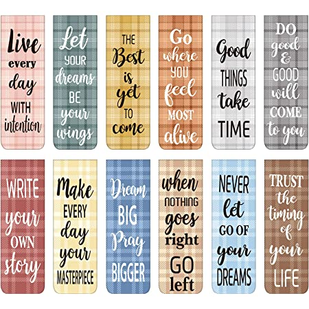 30 Pieces Inspirational Quotes Magnetic Bookmarks Encouraging Bookmarks Positive Magnetic Page Clips Bookmark for Students Teachers School Home Office Supplies