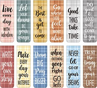 60 Pieces Inspirational Magnetic Bookmarks Motivational Bookmarks Magnetic Page Markers Assorted Magnet Page Clips for Stu...