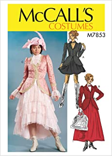 McCall's M7853 E5 Steampunk Mary Poppins Misses Dress Costume Sewing Pattern, Size 14-22