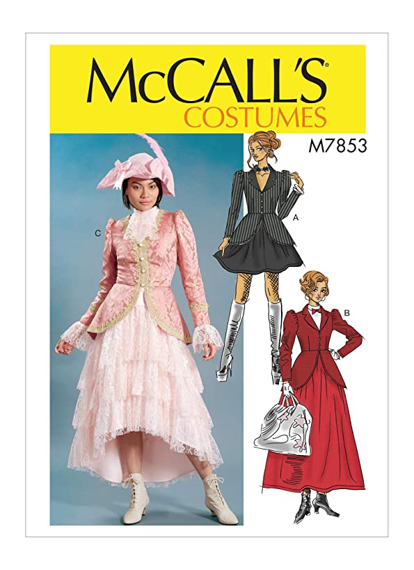 McCall's M7853 A5 Steampunk Mary Poppins Misses Dress Costume Sewing Pattern, Size 6-14