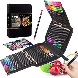 لوازم هنری مداد رنگی 120 رنگ برای بزرگسالان کتابهای رنگ آمیزی ، طراحی نقاشی طرح مداد رنگی هدیه برای هنرمندان مبتدیان کودکان
