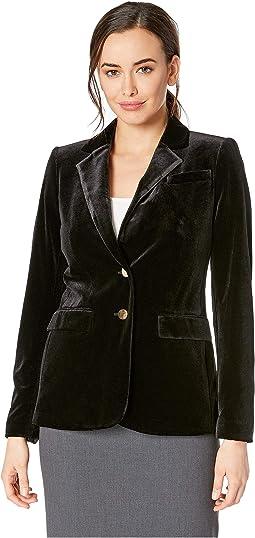 Velvet Button Front Jacket