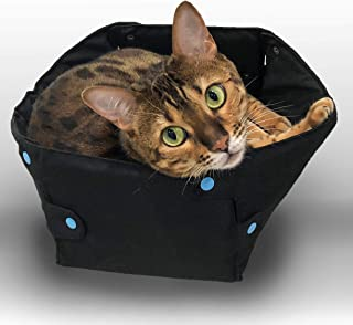 Snobby Reindeer Collapsible Cat Bed, Self Warming Indoor Kitty Box That Snaps up into Cozy Pet Cave, Luxury Upgrade from a Cardboard Cat House