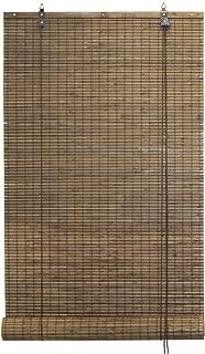 Seta Direct Bamboo Flat-Weave Sun-Filtering Roll Up Blind (24x66 Inch, Espresso)