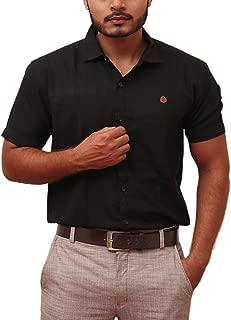 PP Shirts Men Black Coloured Solid Formal Shirt