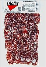 Salchichon Iberico Cular Loncheado - Embutidos Ibericos de Bellota Pata Negra - Envasados al Vacio - Aroma Intenso Textura Jugosa con un Punto Perfecto de Pimienta Negra y Otras Especias - 100 gr