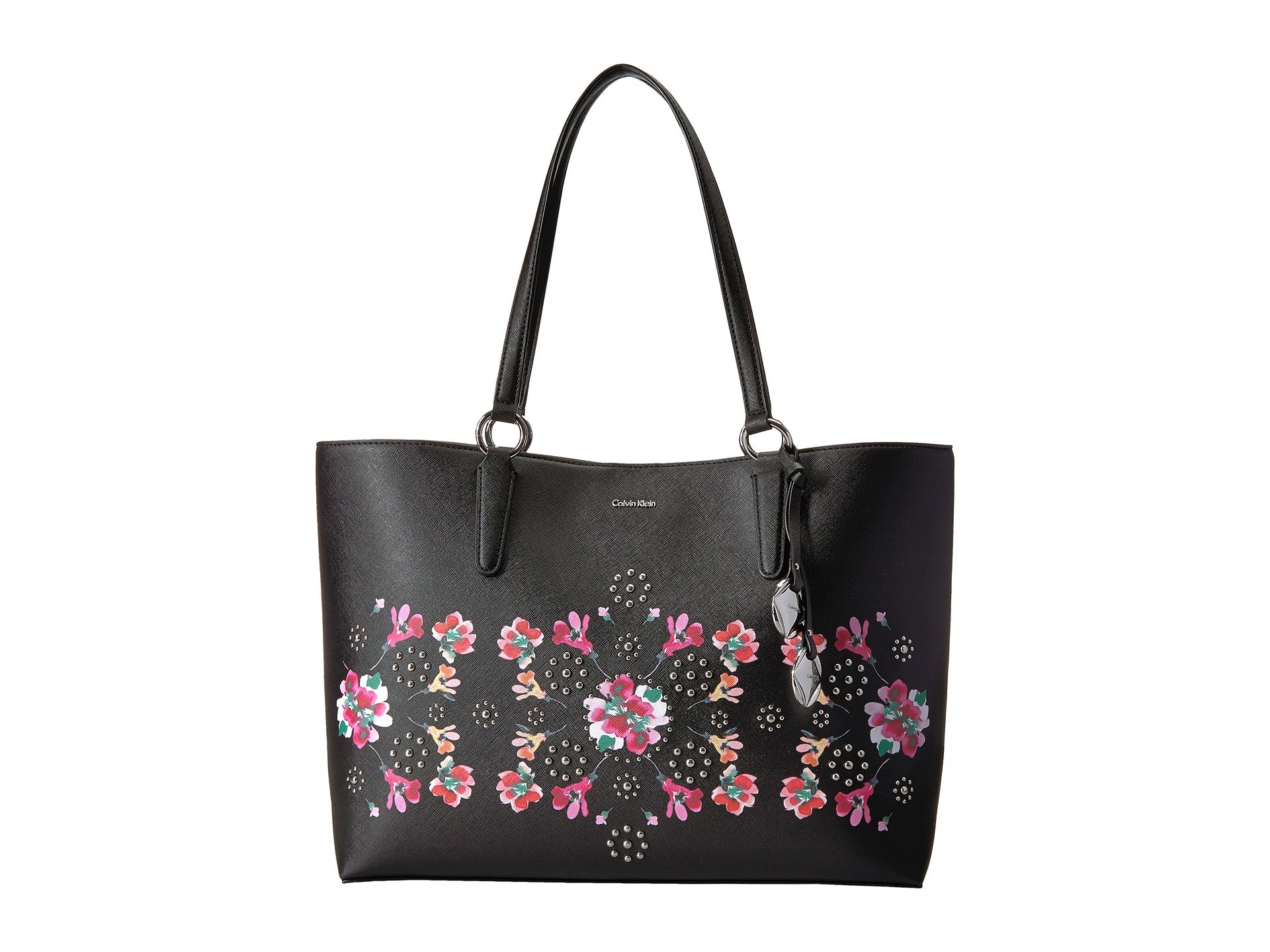 Reese Floral Printed Saffiano East/West Tote