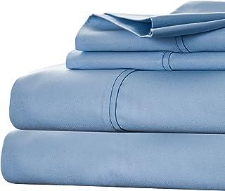 Bedford Home Cotton Rich Sheet Set, King, Blue