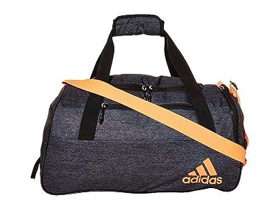 adidas Squad IV Duffel (Jersey Black/Signal Coral) Duffel Bags