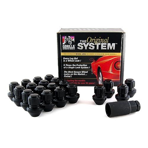 Gorilla Automotive 96643BDX Black Factory Style Wheel Lock System (14mm x 1.50 Thread Size, 20-Pack)