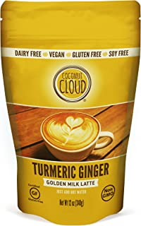 Coconut Cloud: Vegan Golden Milk Turmeric Ginger Latte | Delicious & Creamy, Coconut Milk Powder, (Instant Mix, Just Add Water. Great in Smoothies & Recipes), 12 oz
