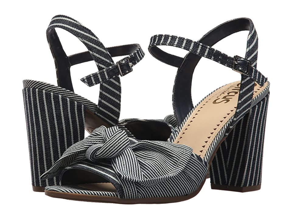 Circus by Sam Edelman Eva (Navy/White Denim Stripe) Women