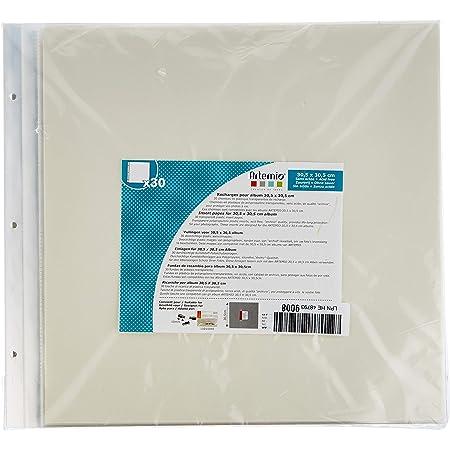 Artemio 11010039 Pochettes transparentes album photo 30,5 x 30,5 cm-30 feuilles