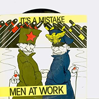 It's A Mistake | Shintaro - Men At Work (Columbia Records 1983) Near-Mint (7 out of 10) - Vintage 45 RPM Vinyl Record
