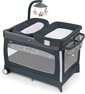 Chicco Lullaby Playard Baby Playpen w/Bassinet & Chaining Station, Poetic Gray