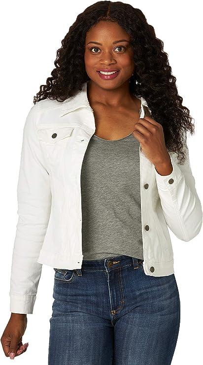 Riders by Lee Indigo Women's White cropped jean jacket for any season wardrobe | Stylish white denim jacket
