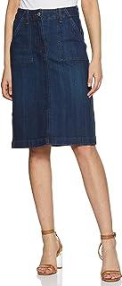 Marks & Spencer Cotton Blend Marks and Spencer Women's Regular Fit Skirts