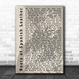 Boots of Spanish Leather Shadow Song Lyric Art Music Quote Gift Poster Print