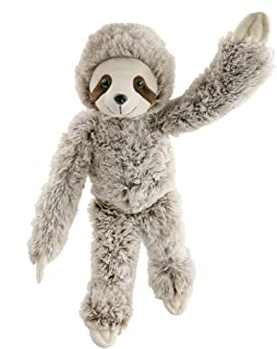 Houwsbaby Realistic Three Toe Sloth Stuffed Animal Wildlife Toy Collection Soft Plush Squeezable Gift for Boys and Girls, 18'' (Sloth)