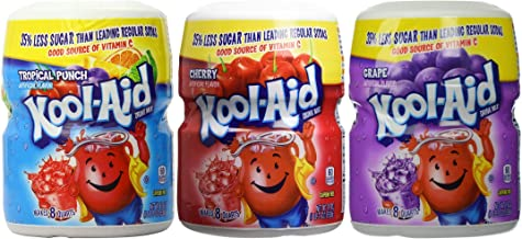 Kool-Aid Drink Mix Variety Pack, Tropical Punch, Cherry and Grape, 19-Ounce (Pack of 3 Containers)