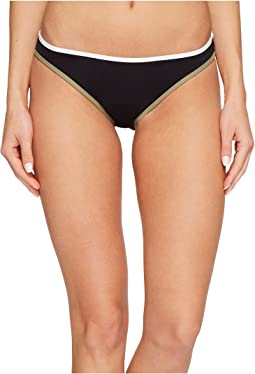 Sun Block Solids Contrast Binding Reversible Bikini Bottoms