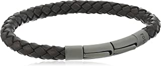 Fossil Braided Leather Cord Bracelet