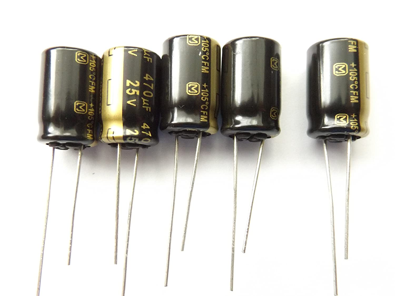 Elektrolyt Kondensator Radial Bedrahtet 5 Mm 470 µf 25 V 20 Ø 10 Mm Panasonic Eeu Fm1e471 1 St Gewerbe Industrie Wissenschaft