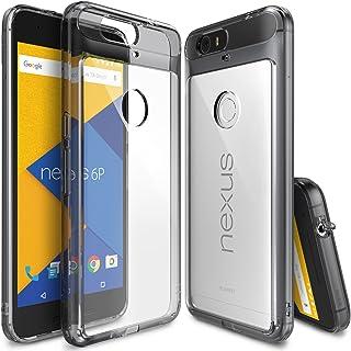 Ringke Funda Nexus 6p [Fusion] Choque Absorción TPU Parachoques Protección Gota **[Gratis Protector de Pantalla HD Incluido] Prima Cristal Claro Trasera Dura [Antiestático] - Smoke Black