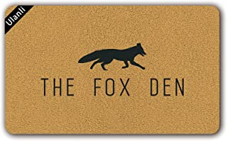 UlanLi The Fox Den Outdoor Welcome Mat Doormat Welcome Mat Rug funny Indoor/Outdoor Rubber Non Slip Doormat For Patio Front Door 23.6 x 15.7 Entrance Floor Mat