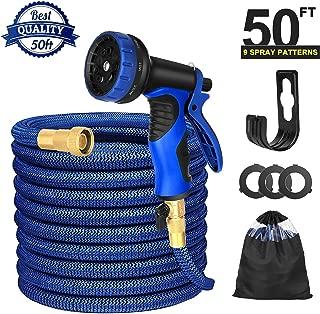 Garden Hose Water Hose Extra Strength Fabric Lightweight Durable Flexible with 3/4