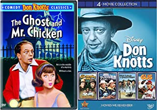 Comedy Classics Starring Don Knotts 5-Movie Collection - Disney's Apple Dumpling Gang and Rides Again, Hot Lead & Cold Feet, Gus and The Ghost and Mr. Chicken Bundle
