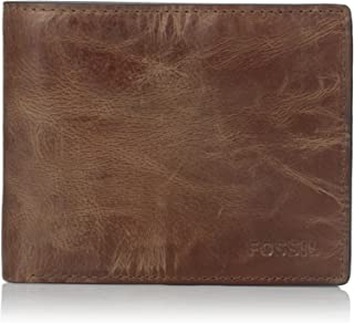 Men's Derrick Leather RFID Blocking Bifold Flip ID Wallet