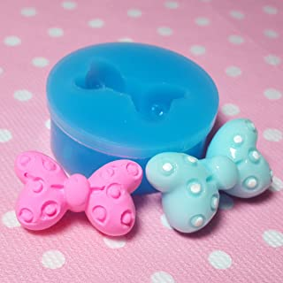 009LBF Kawaii Cute Fashion Bow Bowknot Fondant Silicone Mold for Cake Cookie Decorating Chocolate Soap Epoxy Clay Fimo Clay