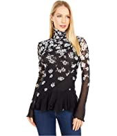 Floral Degrade Turtleneck