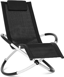 GARTIO Relax Lounger Chaise Longue, Bain de Soleil, Chaise Berçante, Chaise Pliable, Ergonomique, avec Une Charge Maximale...