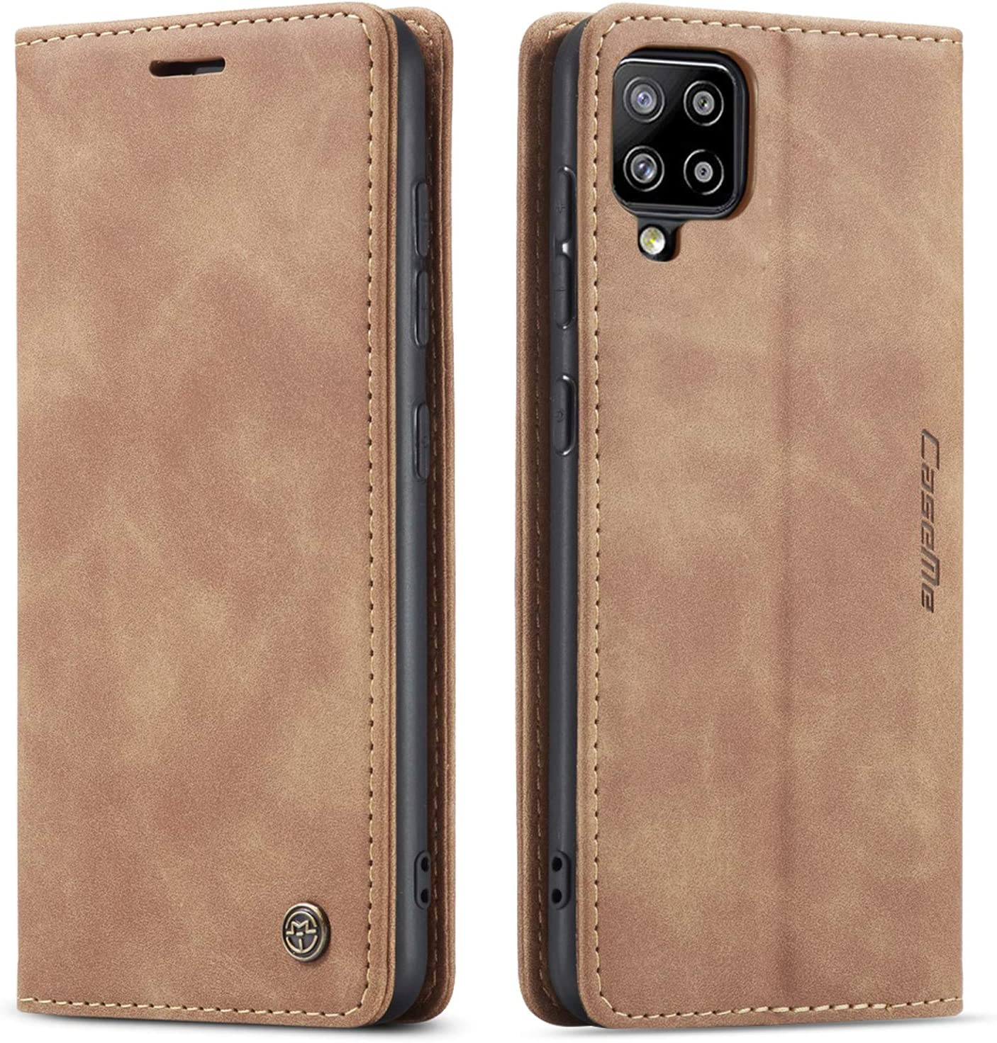 Kowauri Flip Case for Samsung Galaxy A42 5G,Leather Wallet Case Classic Design with Card Slot and Magnetic Closure Flip Fold Case for Samsung Galaxy A42 5G (Brown)