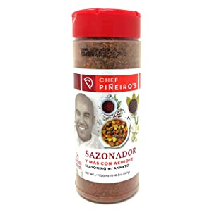 Chef Piñeiro's Seasoning With Annatto From Puerto Rico, Sazonador Con Achiote, 10.5 Ounce (Pack of 1)