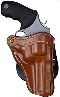 1791 GUNLEATHER K-Frame Revolver Paddle Holster - OWB CCW Holster - Right Handed Leather Gun Holster for Belts - Ruger GP100, Smith & Wesson K Frame and 686 (RVH-2PD)